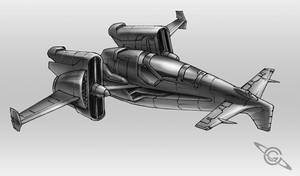 Lunar Fighter by MeckanicalMind