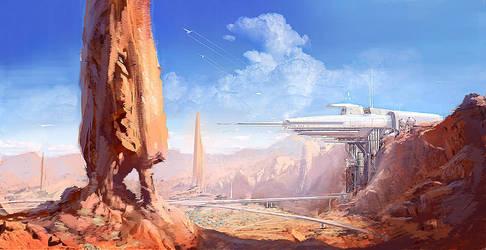 Desert Station by MeckanicalMind