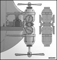 RCF2: Valkyrie Fleet Propeller by MeckanicalMind