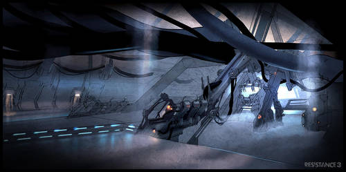 R3 Terraformer Boss Room Concept by MeckanicalMind