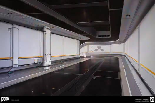 DOOM - Clean Modular Hall Previs by MeckanicalMind