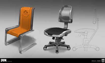 DOOM - UAC office chairs by MeckanicalMind