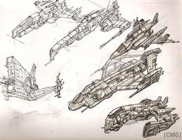 Space Ships 8 by MeckanicalMind