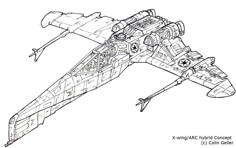 Star Wars Hybrid 1 -line work- by MeckanicalMind