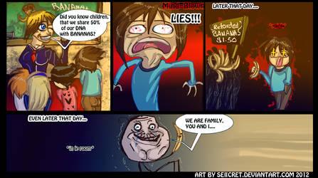 FOREVER A BANANA. .+ mini comic.+ by Saiicret