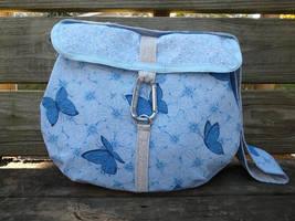 Blue Butterfly Messenger Bag by Eliea