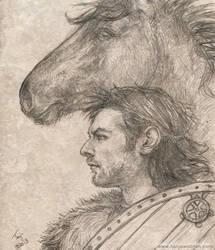 Viking sketch by tygriffin