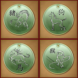 Chinese Zodiac 1 by Darkhanna