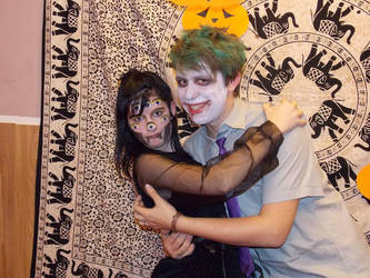 Joker and Spider cosplay by Phyridis