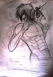 Eren in Titan Form by Shadow-SoulEater