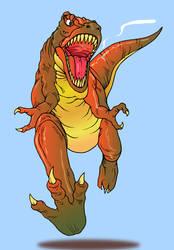 T-rex (illustration using Adobe Illustrator) by ihsans-Art