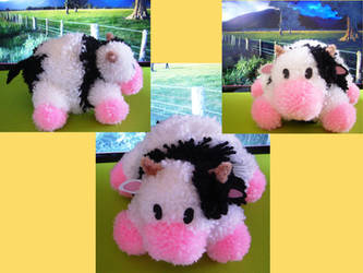 Havest Moon Pompom Cow by chibichanalex
