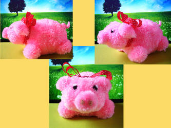 Harvest Moon Pompom Pig by chibichanalex