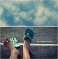 wish i can walk along the sky by chichiawawaw