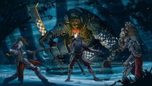 Orc vs Human by minenanoah