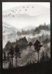 Misty Landscape by favouriteflavor