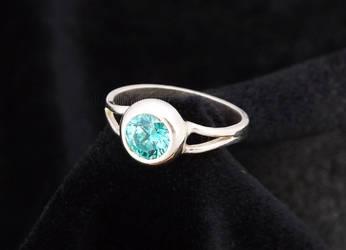 Mint Zirconia Ring by DeathlyVampire