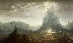 Dark Fantasy enviro concept by d-torres