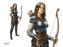 Female Archer by d-torres