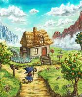A little house by Satoshi-Takahara
