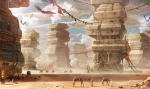 desert city by Satoshi-Takahara