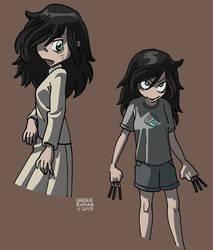 Tomoko at school and at home by ezsaeger