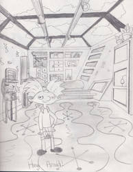 Hey Arnold's room by dragonman12