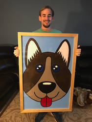 me and my finished framed painting by Scott-A-T-art