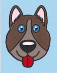happy dog face painting by Scott-A-T-art