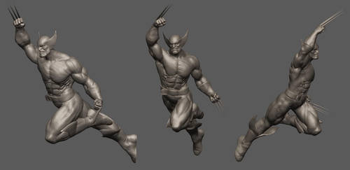 wolverine zbrush turnarounds by acornsam