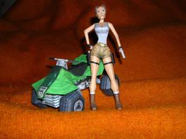 Classic Lara and Quad bike by TR-maniac