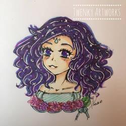 Fluffy Hair - Quick Sketch by ichiipanpan