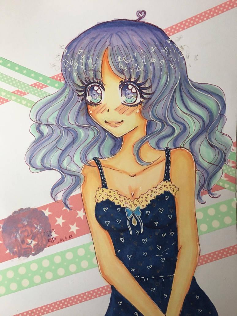 Purple Girl *Cute Eye's* by ichiipanpan