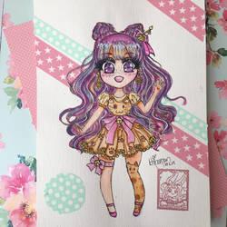 Chibi: Neko-Dress Girl by ichiipanpan