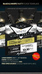 BLACK n WHITE Party Flyer Template by anekdamian