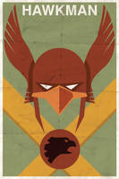 Hawkman - Vintage Poster by drawsgood