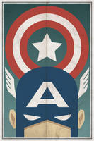 Captain America - Poster by drawsgood