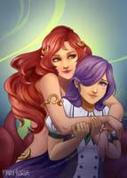 [Gift] Andromeda and Scarlet by MaryBorde
