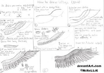 How to draw wings (bird) by NiReLLiK