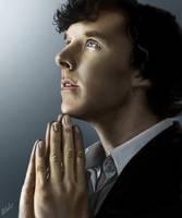 Sherlock - prayer pose by beth193