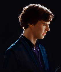 Sherlock in profile by beth193