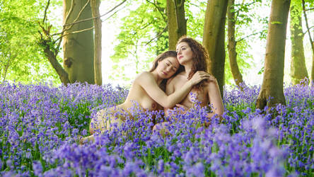 Ella and Joy: Back to the bluebell wood (part 3) by JeremyHowitt