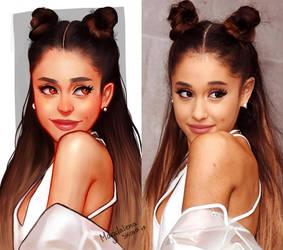 Ariana Grande art vs reality by MAGZ0