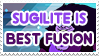 Sugilite is Best Fusion - Stamp by AlphaChap