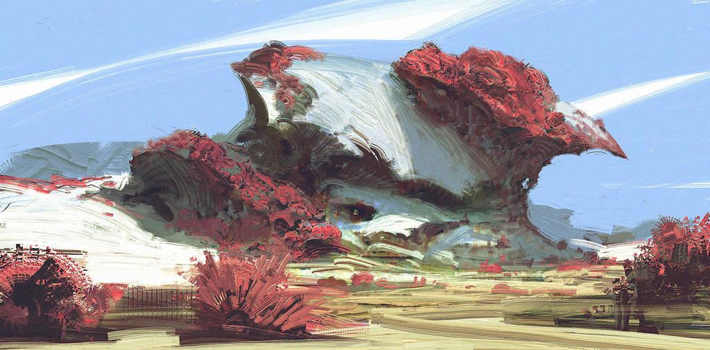 alien landscape by TacticsOgre