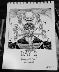 INKTOBER 2018 - DAY2 : TRANQUIL by tanawa