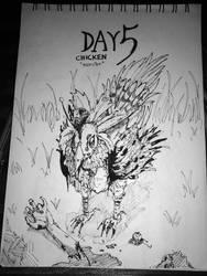 INKTOBER 2018 - DAY5 : CHICKEN by tanawa
