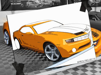 Camaro Cartoon by FabinhoDesigner