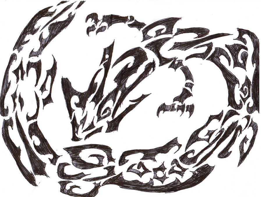 dacd3a08497 Rayquaza tribal tattoo concept howtobeast on deviantart jpg 900x679 Tribal  rayquaza