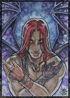 ACEO - Winged Melakim by AngelaSasser